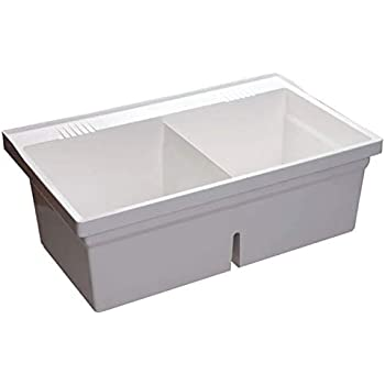 Mustee 27f Double Bowl Laundry Tub Utility Sinks Amazon Com