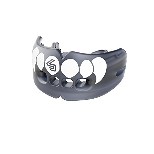 Shock Doctor Double Braces Mouth Guard - Upper and Lower Teeth Protection - Mouthguard No Boil/Instant Fit - for Youth, Teenager, Kids and Adults. Mouth Piece OSFA. Tether Strap Included