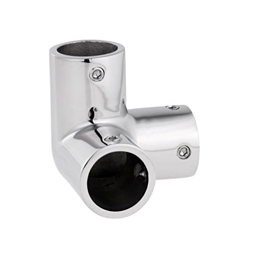 - SM SunniMix Boat Handrail Rail Tee Fitting 7/8 inch 90 Degree 3 Way Corner Elbow -Marine 316 Stainless Steel - Silver