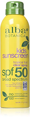 Alba Botanica Spf50 Sunscreen Kids 6 Ounce Clear Spray (177ml) (2 Pack)