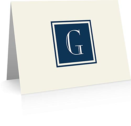 - Monogram Stationery Note Cards (24 Foldover Cards and Envelopes) (G)