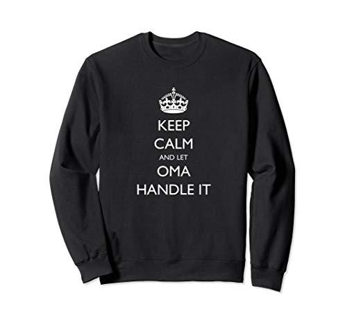 (Grandma Shirt Keep Calm and Let Oma Handle It Granny Sweatshirt)