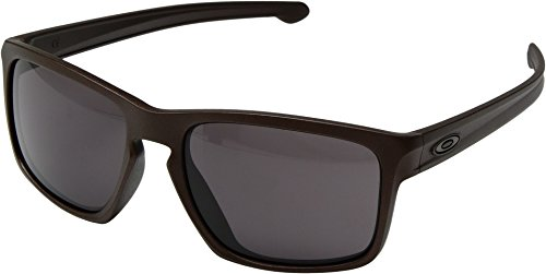 Oakley Adult Sliver Asian Fit Sunglasses, Corten/Warm Grey, One - Silver Oakley