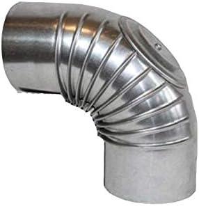 FAL 90/° Bogen gerippt 100mm Durchmesser Ofenrohr Rauchrohr feueraluminiert Silber