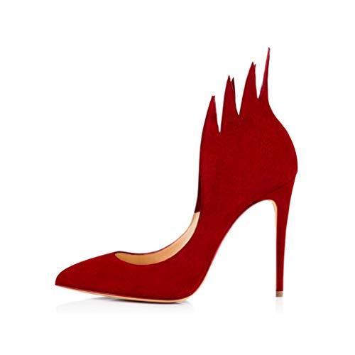Banquet Mode La Profondes Femmes Flammes De Plate Pointues Un Chaussures Chaussures Mariée Peu Stilettos Étanche Mariage Forme Pied Red qSZZ5w