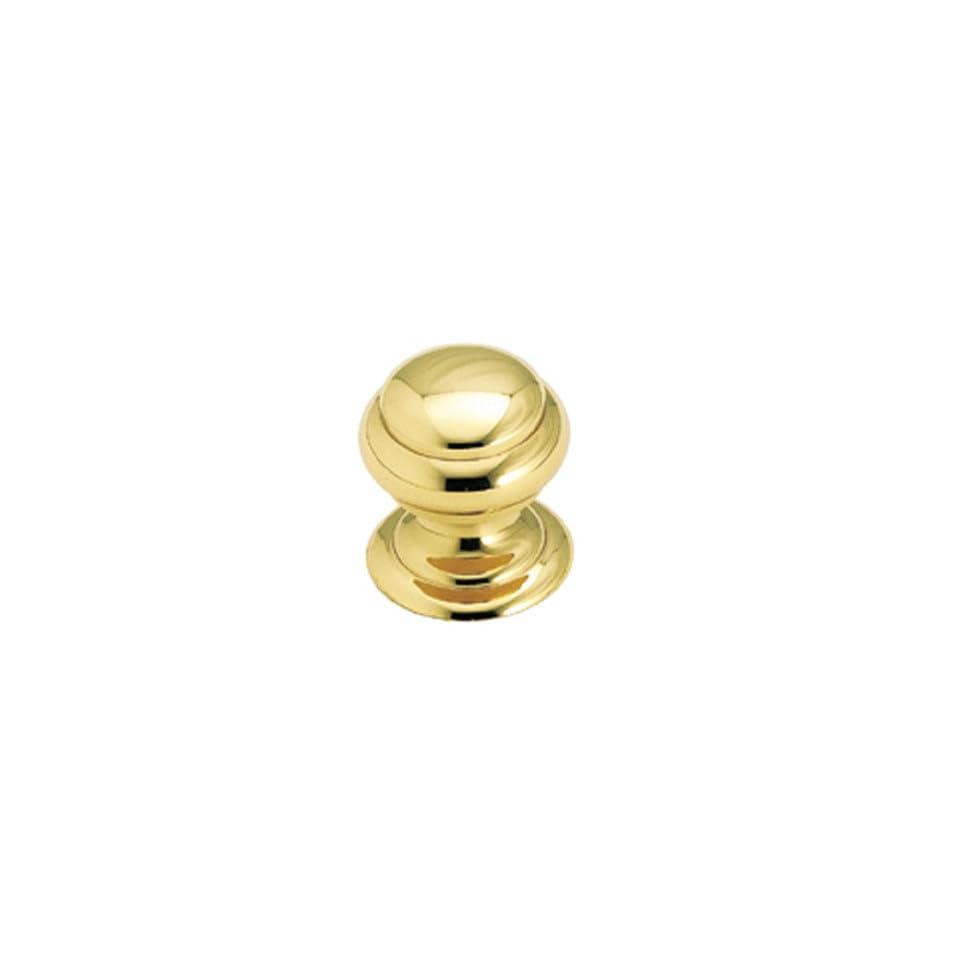 Amerock Solid Brass 25mm Cabinet Knob Polished Brass