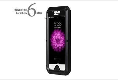 GX caja estanca de aluminio de metal cristal Gorilla resistente a los golpes para el iphone 6 más , Black: Amazon.es: Electrónica