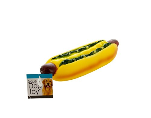 Giant Hot Dog Squeaky Dog Toy-Package Quantity,36 by bulk buys