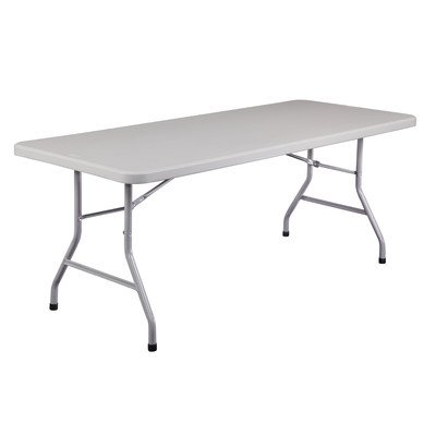 Blow Molded 72'' Rectangular Folding Table by National Public Seating