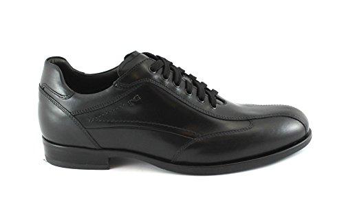 Jardins de Sport Nero Élégants 05222 Chaussures Lacets Giardini pour Hommes Black Noir en Cuir Nero 8qBETw6zx