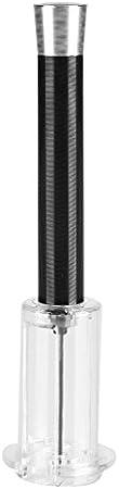 Zerone - Sacacorchos a presión de aire, bomba de botella para vino, color negro