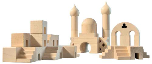 HABA Middle Eastern Wooden Architectural Building Blocks - 50 Piece Set