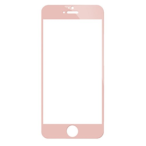 Fancasee iPhone SE Screen Protector Glass, iPhone 5S 5C 5 Screen Protector Glass, HD Full Cover Tempered Glass Screen Protector for iPhone SE 5S 5C 5 - Rose Gold