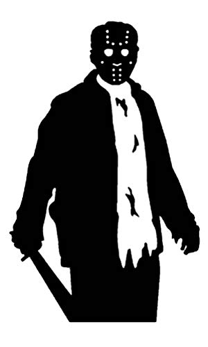 ValueVinylArt Jason Voorhees (Friday the 13th) with Machete Halloween Wall Decal- Black (22