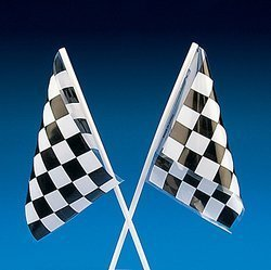 Fun Express Plastic Racing Flags Bulk Novelty (6 dozen)