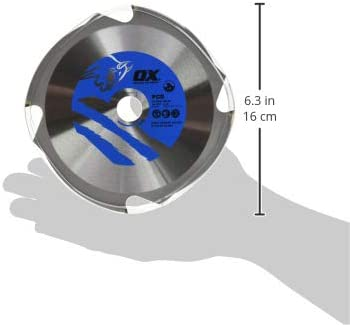 OX Tools OX-PCD-165//20 Fibre Cement Cutting Blade-4 Teeth-165//20mm 165//20mm