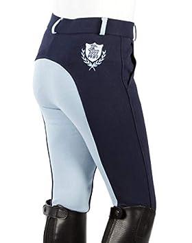 PFIFF Kinderreithose Kinder Mixte Enfant Pantalon d/équitation Gina /à Pois avec Bordure adh/ésive Pantalon