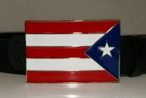 Mikash Puerto Rico Flag Belt Buckle | Model FLG - 3457