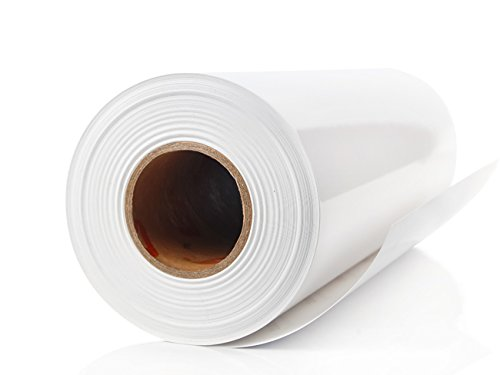White Adhesive Vinyl Roll 12'' by 30 FEET - for Cricut, Silhouette Cameo, Craft Cutters, and Die Cutters by StyleTech (white 3mil) by StyleTech - Turner Moore Edition