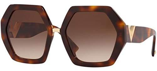Valentino VA4053 501113 Havana VA4053 Square Sunglasses Lens Category 3 Size 57