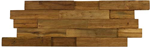 - AquaTeak Manada Reclaimed Teak Wood Wall-Tile Decor