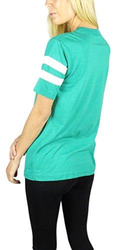 Star Wars–Logo Varsity–Camiseta de fútbol Verde Jaspeado