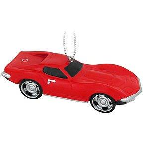 Kurt Adler Chevrolet LIttle Red Corvette Christmas Ornament
