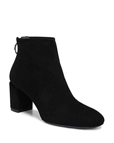 - Via Spiga Womens Noel Leather Almond Toe Ankle Fashion, Black Suede, Size 9.0