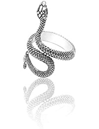 Retro Punk Exaggerated Spirit Cobra Snake Ring Fashion Animal Personality Stereoscopic Opening Adjustable Ring