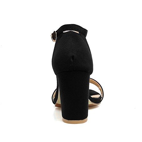 AdeeSu 5 Noir Bout SLC04245 Ouvert Femme Noir 36 zazq81