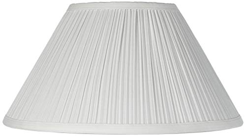 Mushroom Pleated Creme Lamp Shade 6x14x8 (Spider) - Brentwood ()