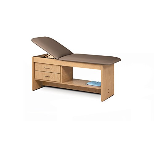 - 30 Treatment Table NAT Wood Laminate Drwrs Silver Pull-Cappuccino