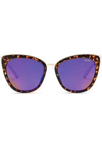 QUAY Australia Honey Sunglasses in Tortoise Frame, Purple Lens, One ()