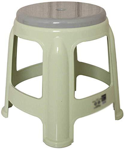 YLCJ Taburete Redondo, plastico Transpirable Antideslizante Banco pequeno Actividad Escolar Estudiante Taburete pequeno Bano Lavado de pies Altura 34.5CM (Color: Verde)
