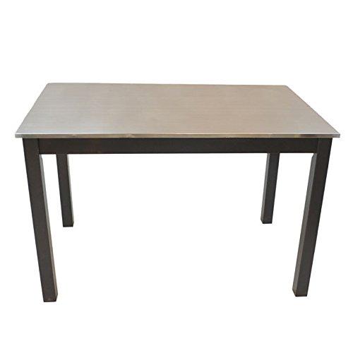 Carolina Cottage Carter Stainless Steel Top (Carolina Cottage Black Dining Table)