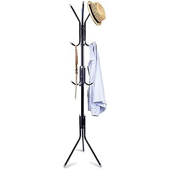 Amazon.com: Mind Reader Standing Metal Coat Rack Hat Hanger ...