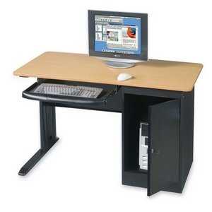 LX Computer Workstation with Locking CPU Holder Dimensions: 48