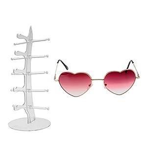 Dovewill 5 Pairs Sunglasses Eyeglass Eyewear Rack Display Organizer Showcase for Shop Retailer Jewelry Holder with A Sunglasses Gift