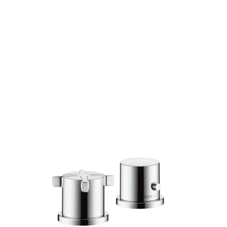 hansgrohe 2 hole Thermostatic Axor Citterio E F-Set chrome Bathtub randmontage