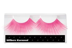 Künstliche Wimpern Neon-Pink jumbo