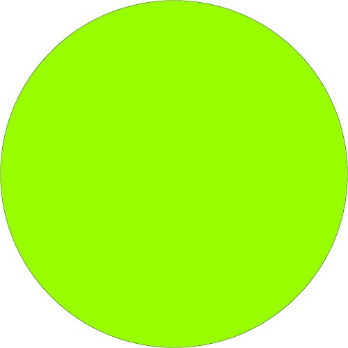 Tape Logic TLDL613J 2'' Inventory Circle Labels, Fluorescent Green, 1 Roll of 500 Labels by Tape Logic