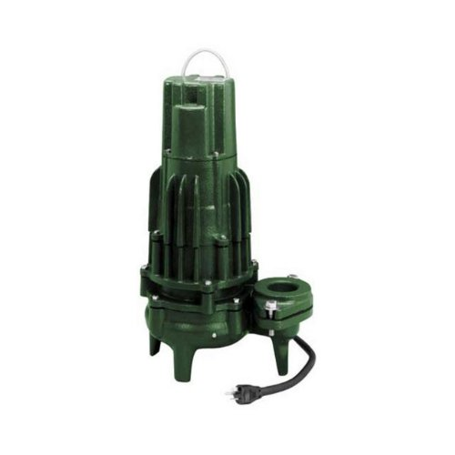Zoeller 295-0004 230-Volt 2 Horse Power Model E295 High Head Waste Mate Non-Automatic Cast Iron Single Phase Submersible Sewage/Effluent Pump -