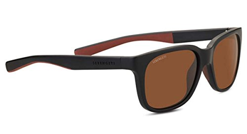 Serengeti Eyewear Sunglasses Egeo Sanded Black/Brown Polarized Brown - Glasses Driving Serengeti