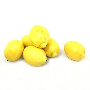 ALEKO 6AFLEM Decorative Lifelike Realistic Artificial Fake Fruit Decor Lemons Yellow Lot of 6 3