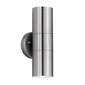 Modern stainless steel external updown ip44 rated outdoor security modern stainless steel external updown ip44 rated outdoor security wall light complete with aloadofball Choice Image