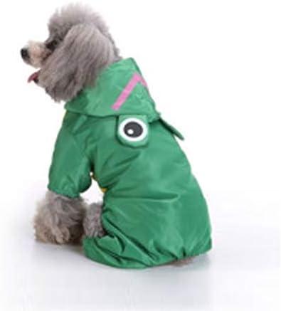 Cómodo Patrón Impermeable de Ranas para Mascotas Perro para Mascotas Impermeable de Cuatro pies L Encantador ( Size : Hc1385g )