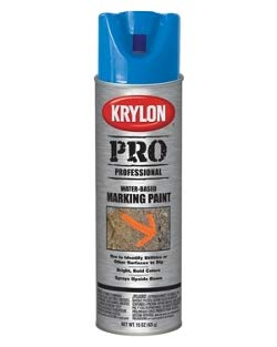 Box Paint - Krylon Inverted Water Based Marking Paint Blue (Box of 12)