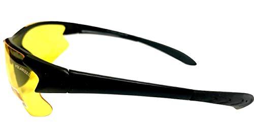 305b77267fd Jual Half Frame Sport Wrap Around Yellow HD Night Driving Glasses ...