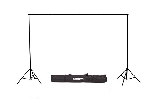 Fovitec - 1x 9'x10' Photography & Video Backdrop Support Stand - [Cast Iron][Collapsible][Interlocking][Lightweight][Carry Bag Included]