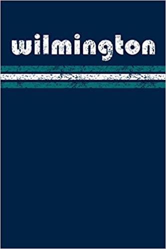 Wilmington North Carolina Notebook Journal Planner Retro Vintage Weathered 90 Pages